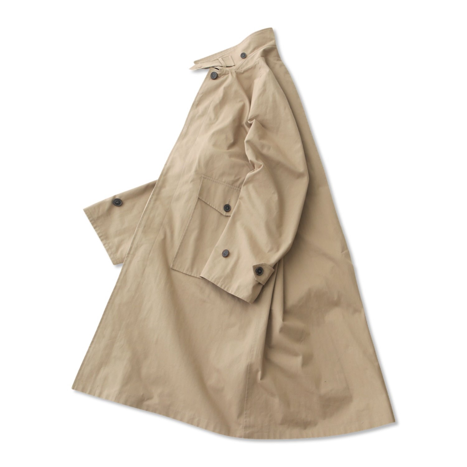 Reception Oversized Balmaccan Coat (Beige)