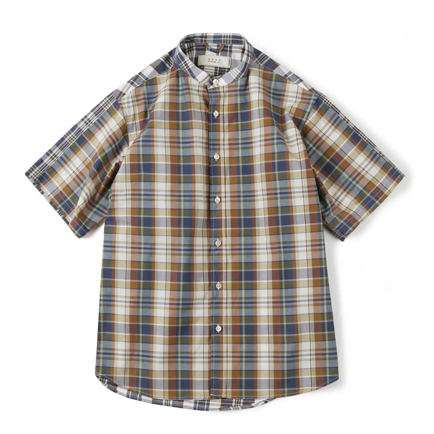 Shirter Check Mix Shirts (Brown)