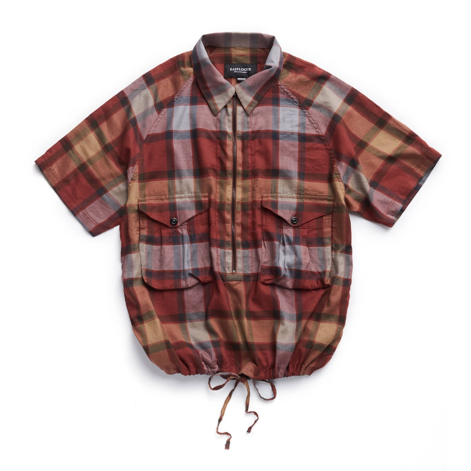 EASTLOGUE Scout Pullover Half Shirts (Red Multi Check)