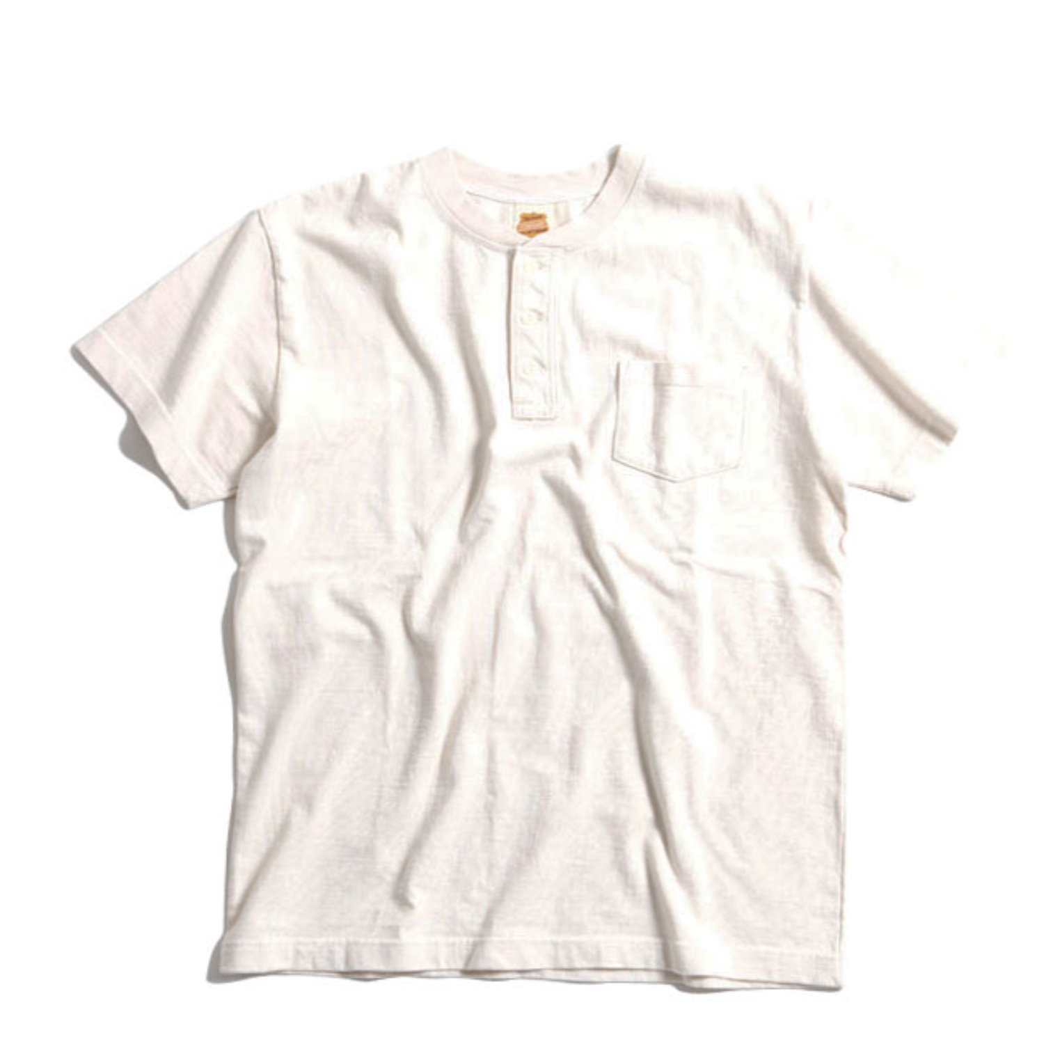 OD Volume Cotton Henley Tee (Natural)