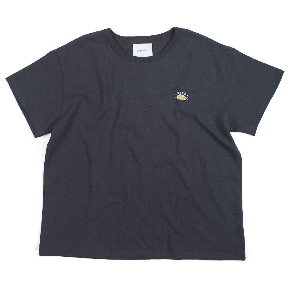 ¡che che! Taco Needlepoint  T-Shirts (Charcoal)
