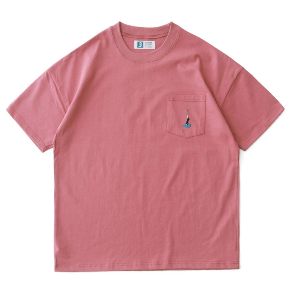 Diving Women by Suntur Oversized Pocket T (Coral)