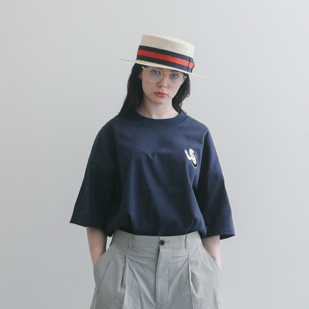 Teleport By GONGKAN Oversized Tee (Navy)