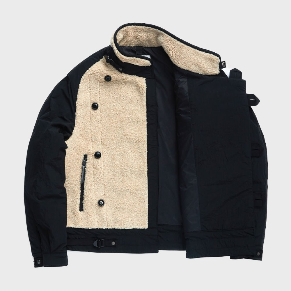 Motorcycle Jumper (Beige & Black)