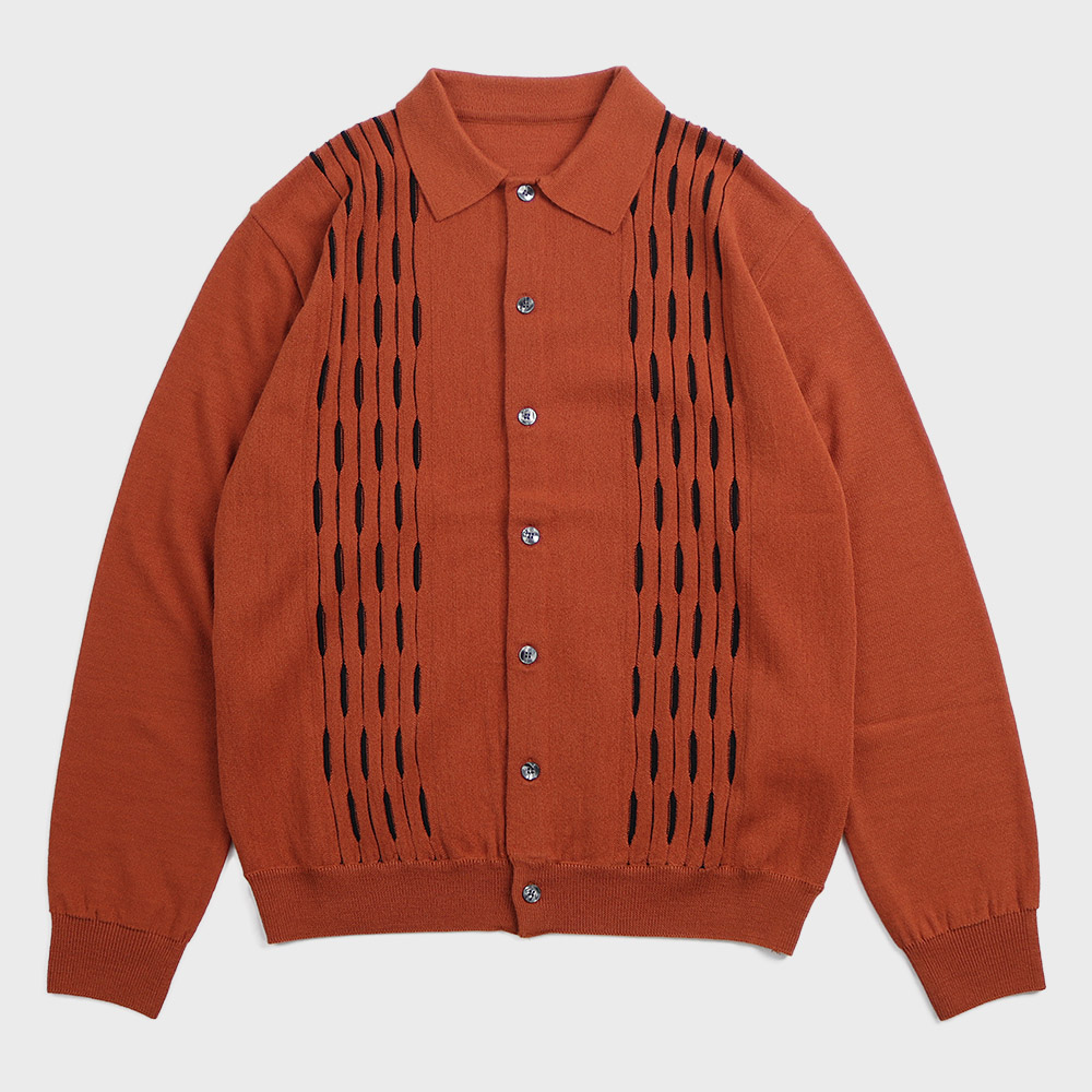 Cardigan Sweater (Brick)