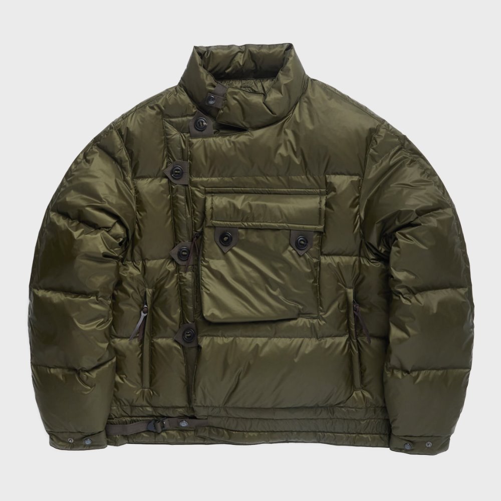 Motorcycle Down Jumper (Olive Quantum)