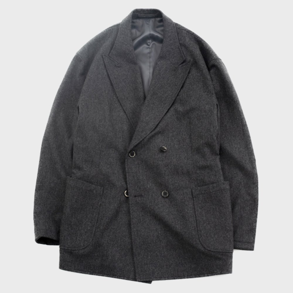 Utility Double Breasted Jacket (Grey)