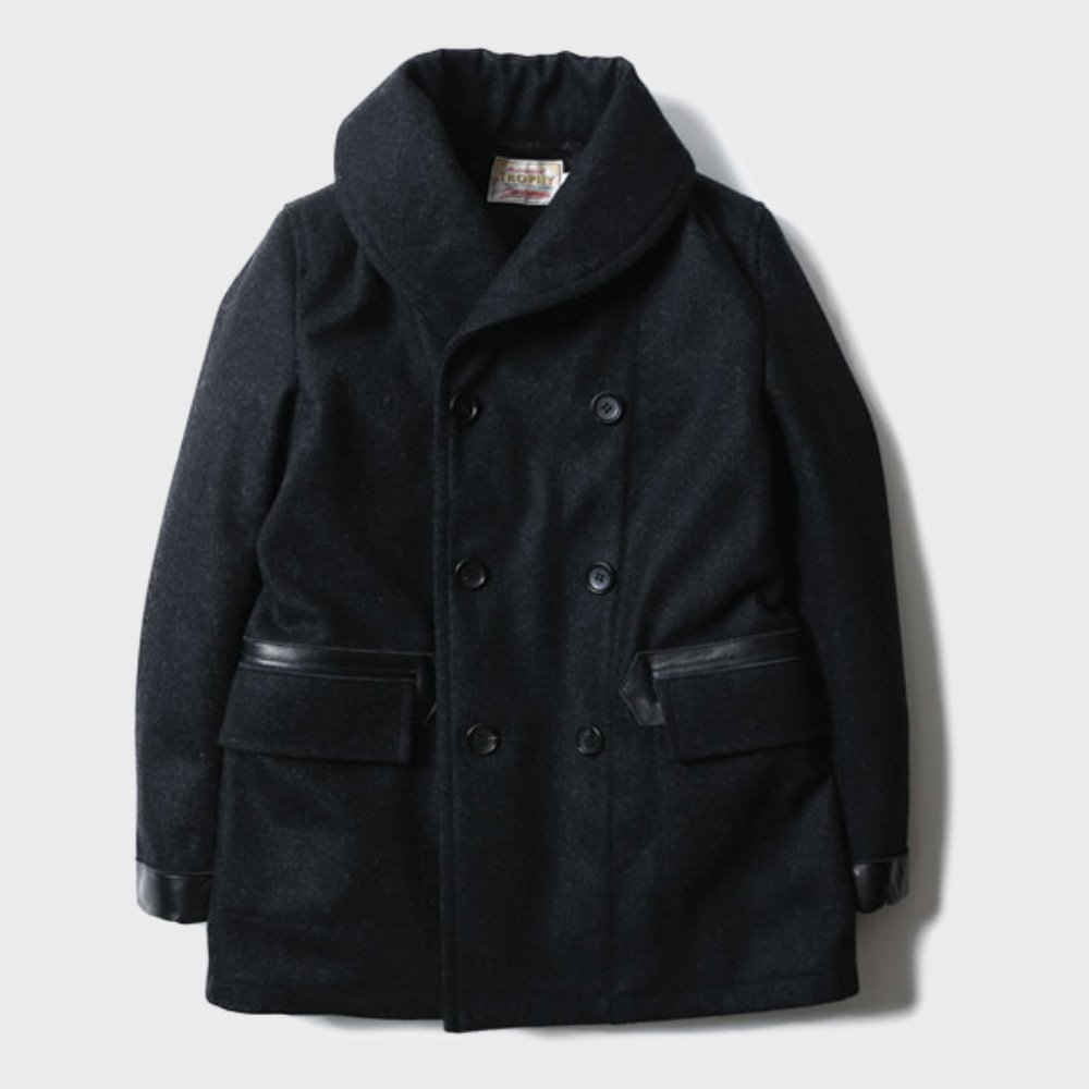 Mackinaw Wool Coat (Black)