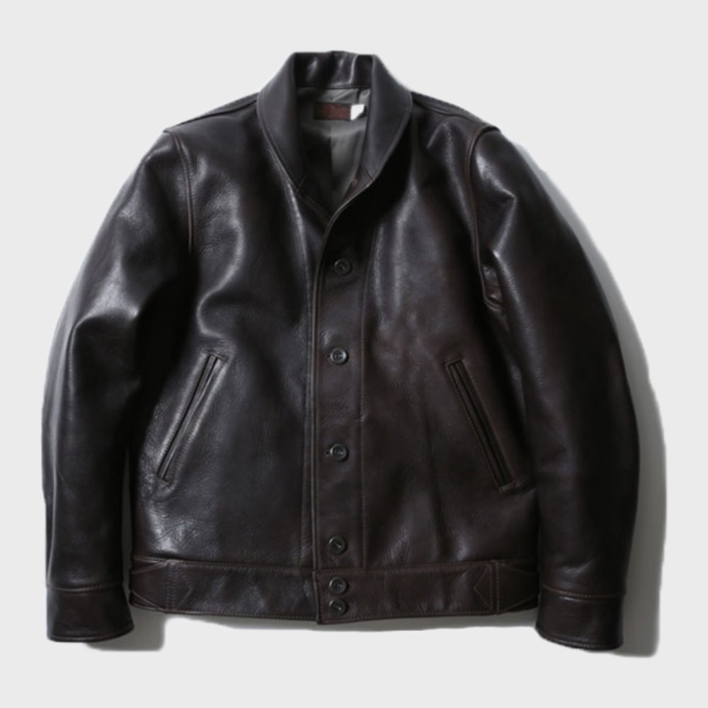Steer Hide A-1 jacket (Black)