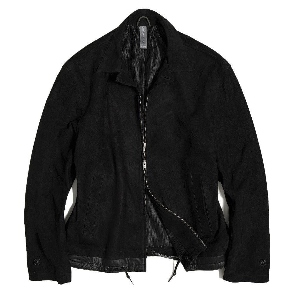 Contrast Panel Suede Jacket - Black