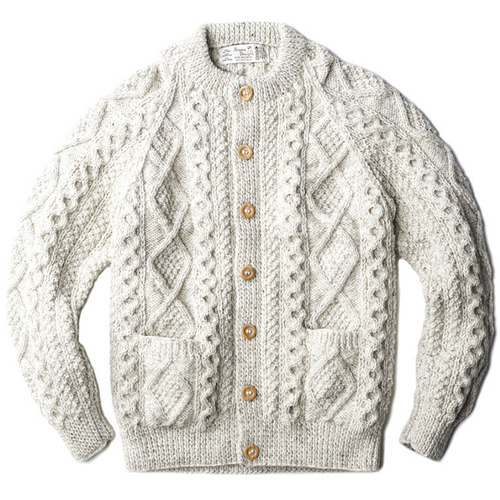 "Athena Designs Crew Neck Cardigan ""Oatmeal (9069)"""