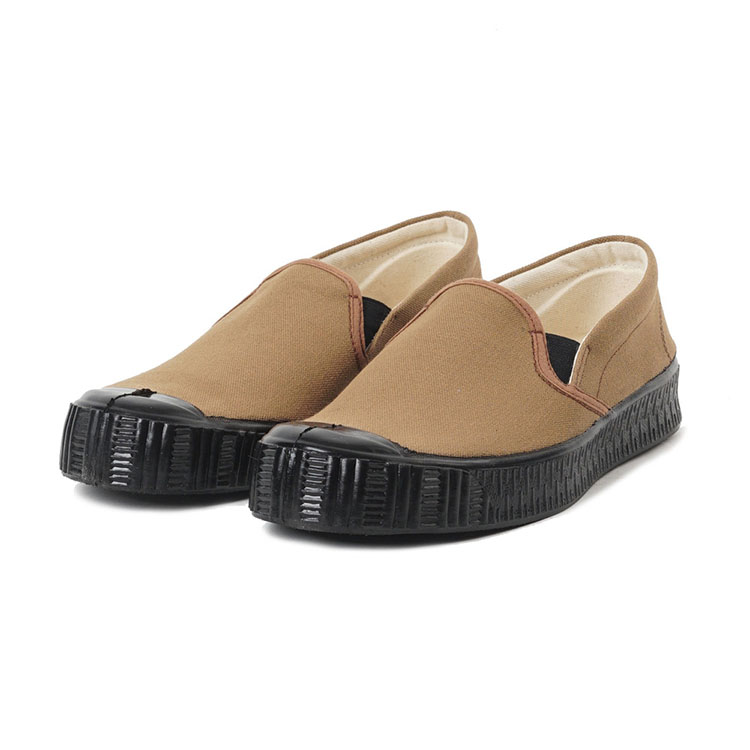 "Fern Army Slipon Model Camel Canvas ""Black"""