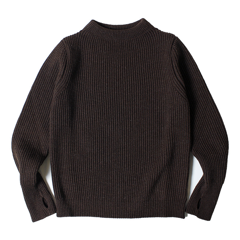 ANDERSEN-ANDERSEN Navy Crewneck (Natural Brown)