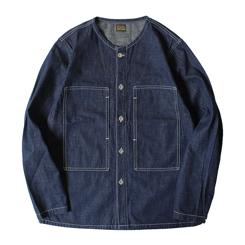 PIG & ROOSTER 2nd Utility Top (Indigo Blue)