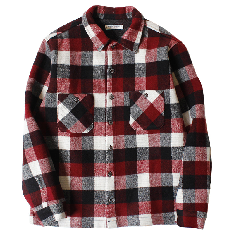 Steelwheels Soft Wool Shirts (Red)