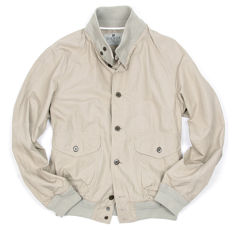 BHR A-1 Linen Blouson (Light Grey)