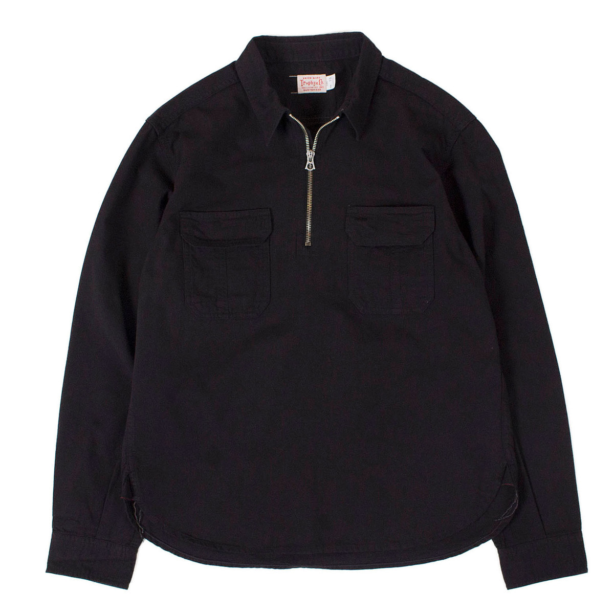 Logger Half Zip Shirts (Black)