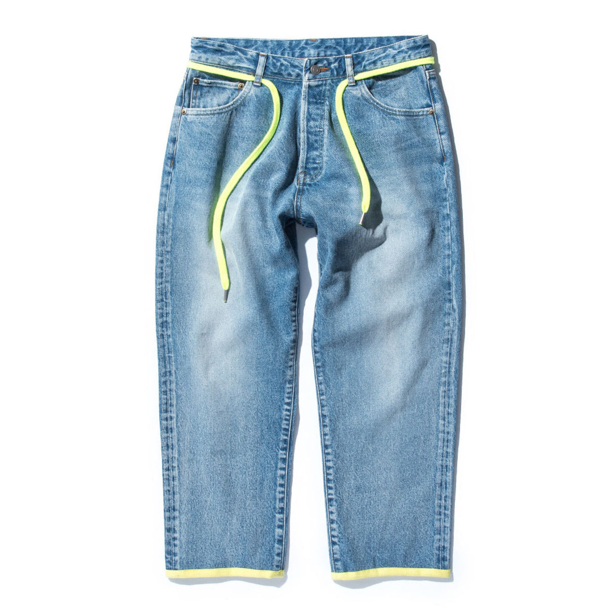 Cropped Pt (12.5oz Washed Denim) (B4) Blue & F.Green