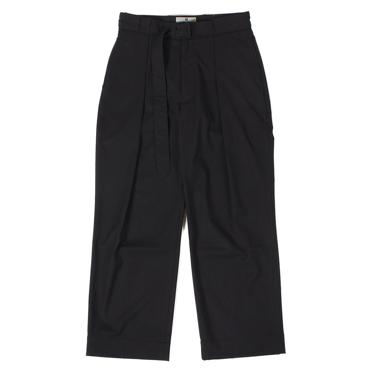Belted Wide Pants (Black)