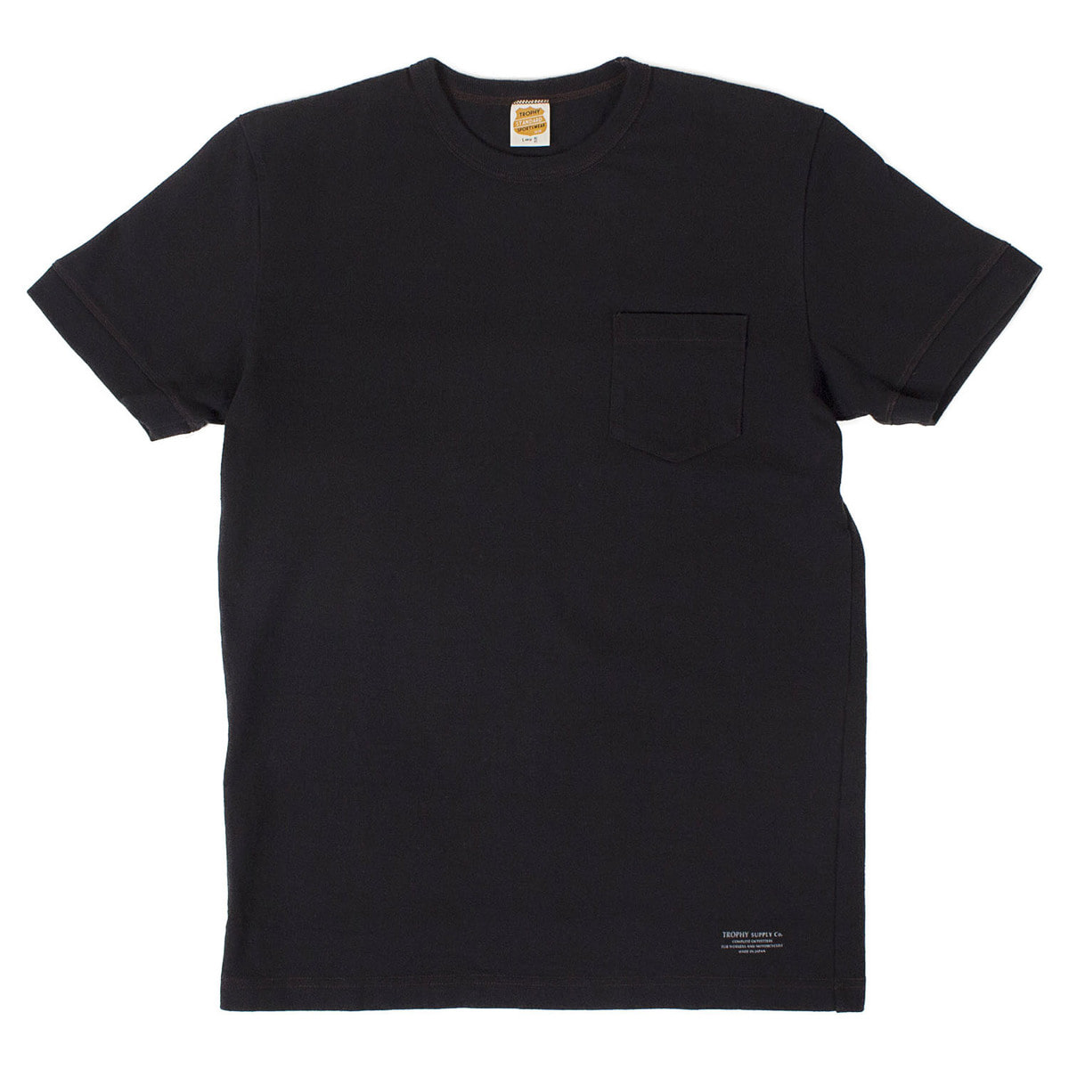 Volume Cotton Pocket Tee (Black)