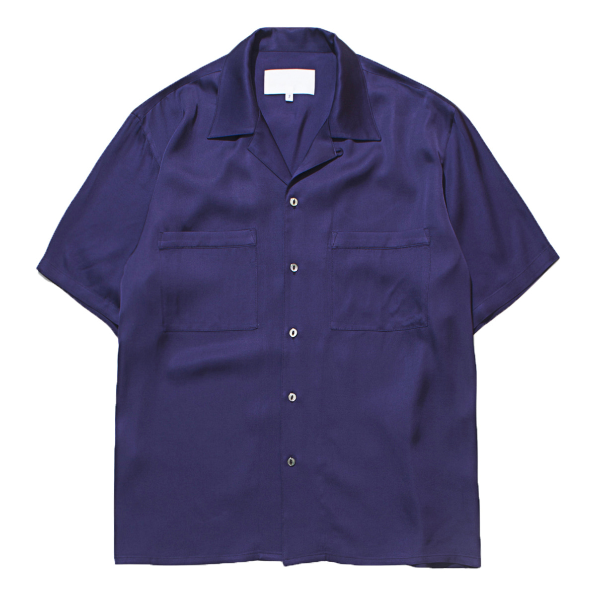 Open Collar Shirt - Viscose (Purple)