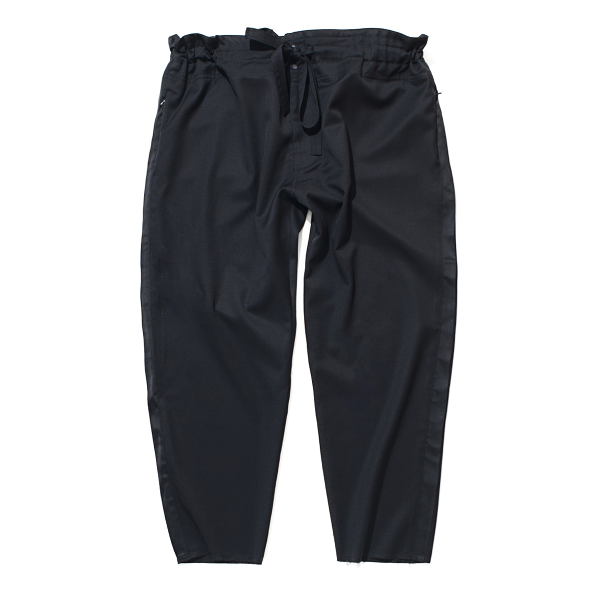 Tapered Wrap Pants (Black)