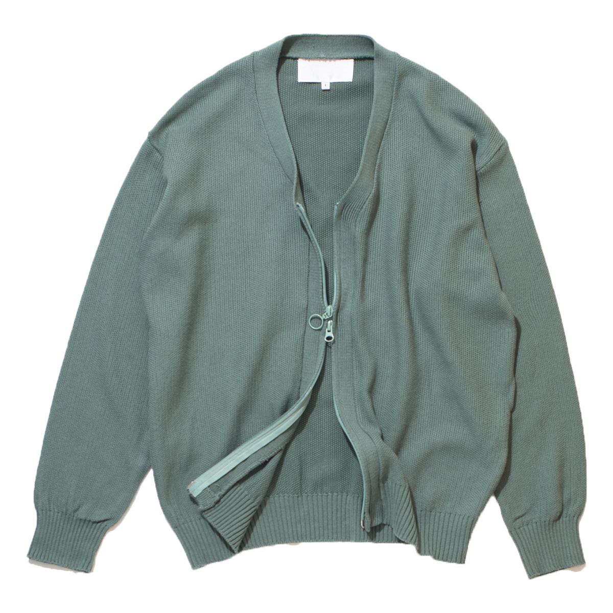 Zippered Cardigan (Mint)