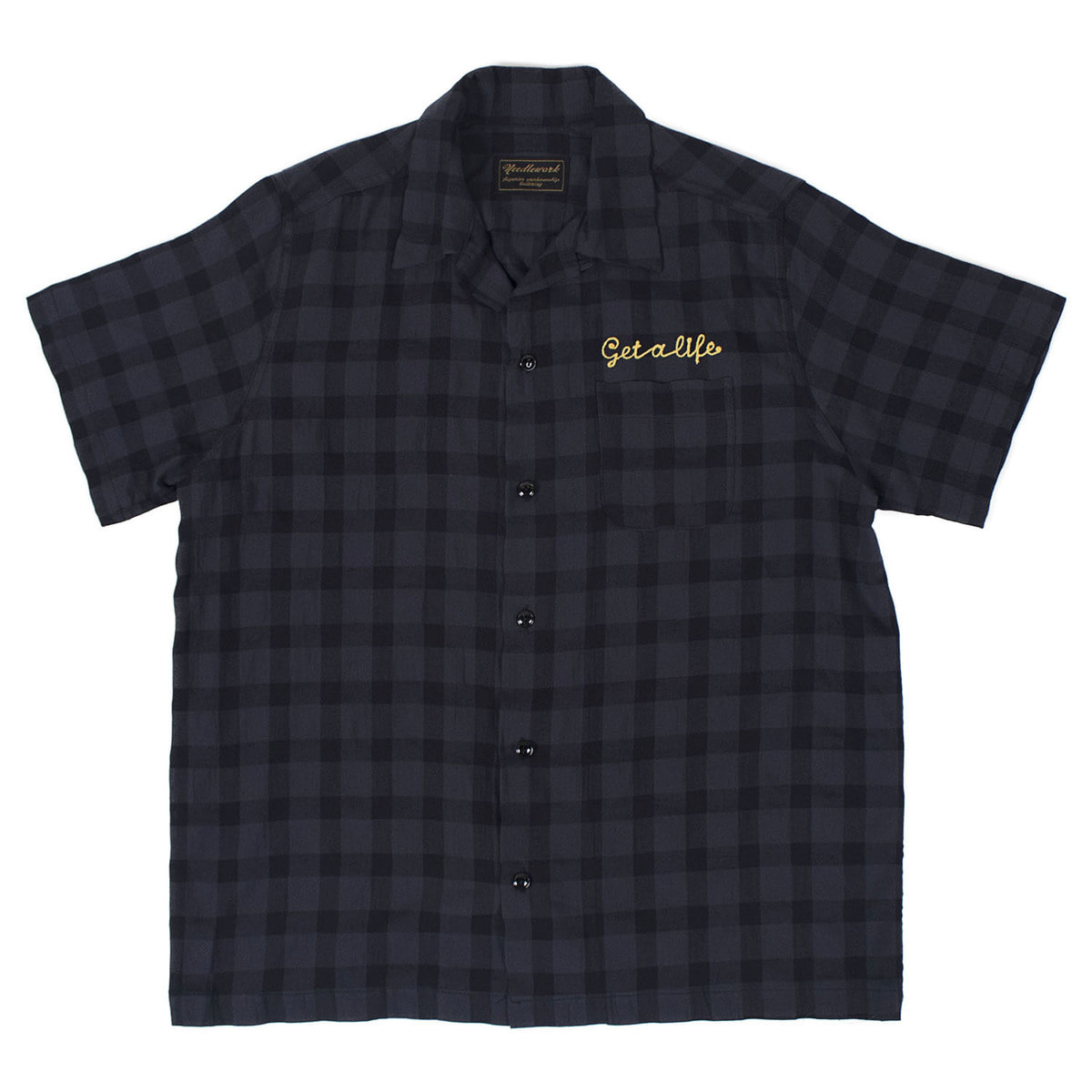 Rayon Check Shirts (Navy)