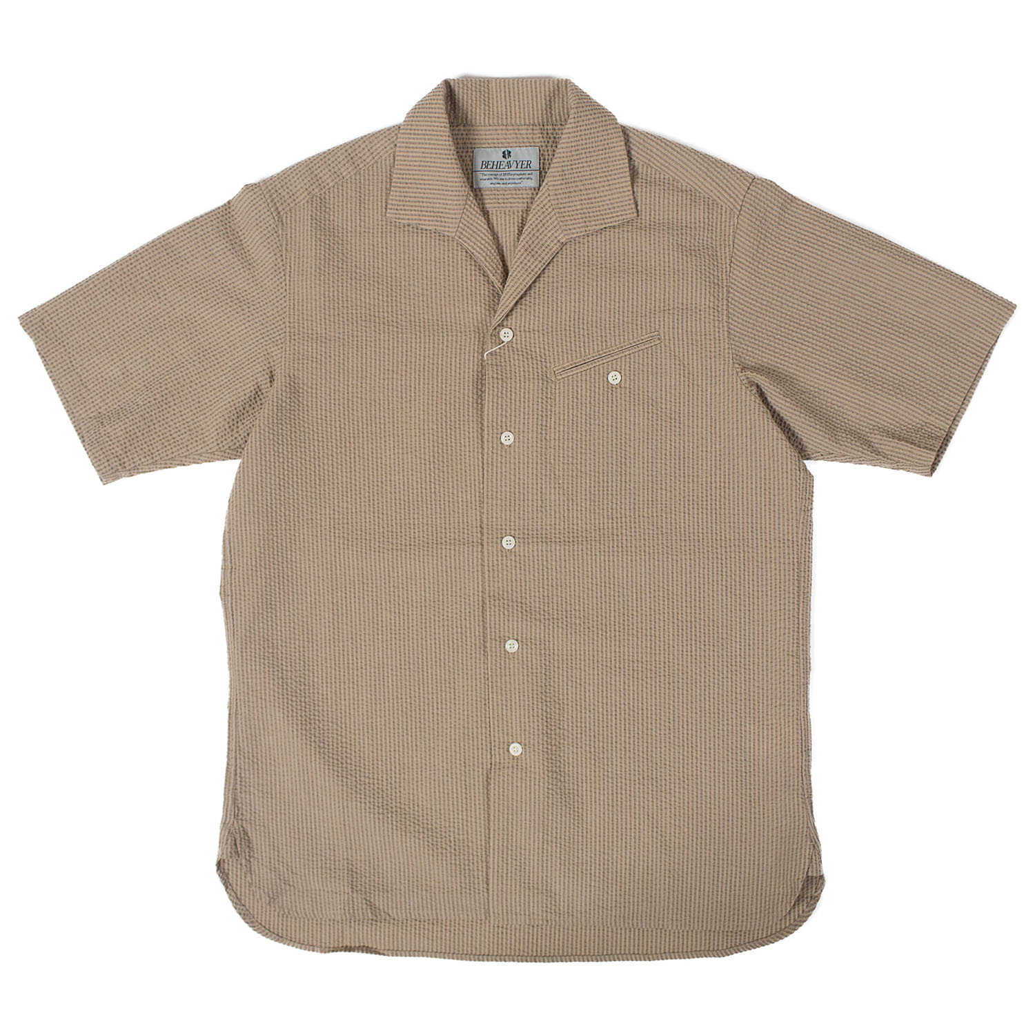 BHR Flight Shirts Seersucker (Beige)