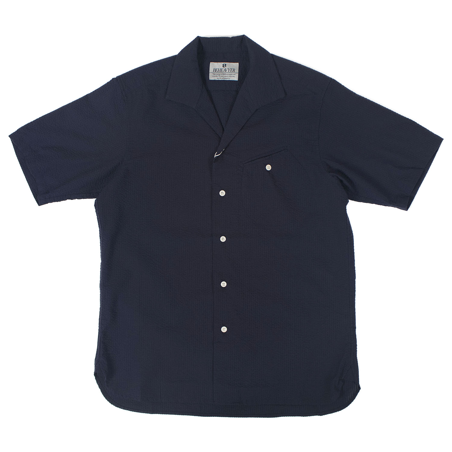 BHR Flight Shirts Seersucker (Navy)
