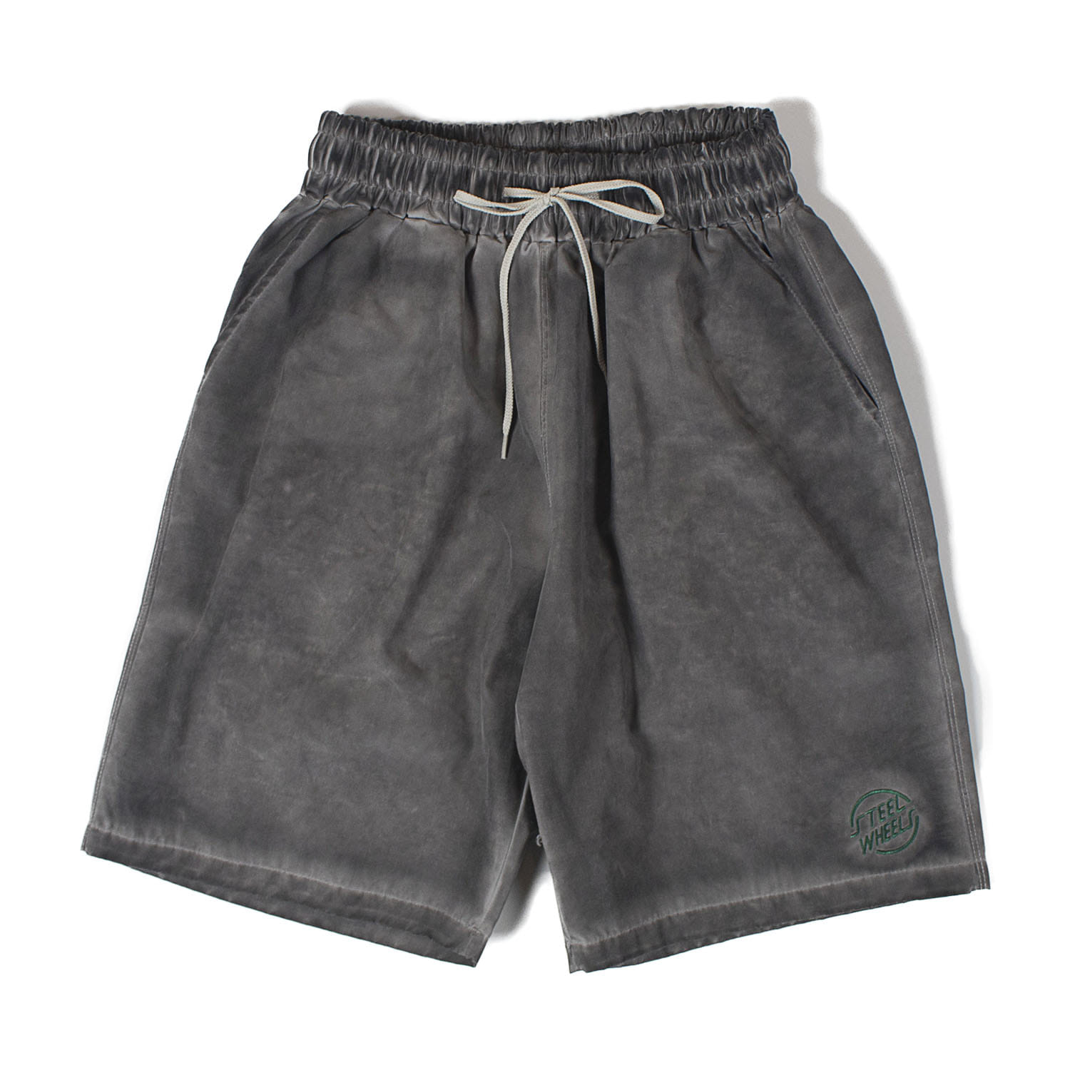 Hand garment Dyeing Shorts (Charcoal)