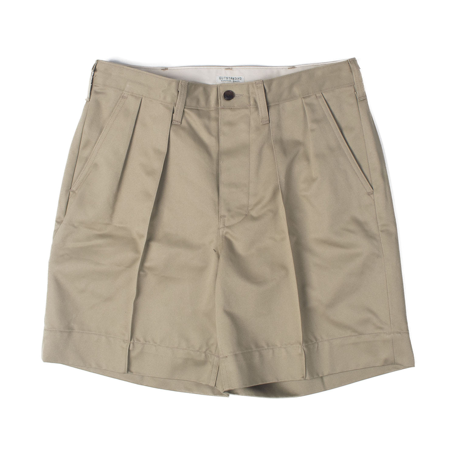 Officer Military Chino Shorts (Beige)