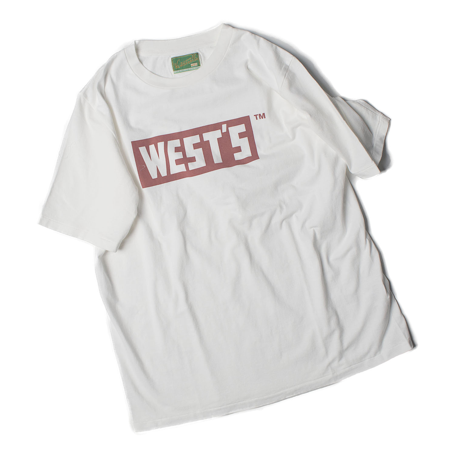WEST'S T-Shirts ( Wht x Red)