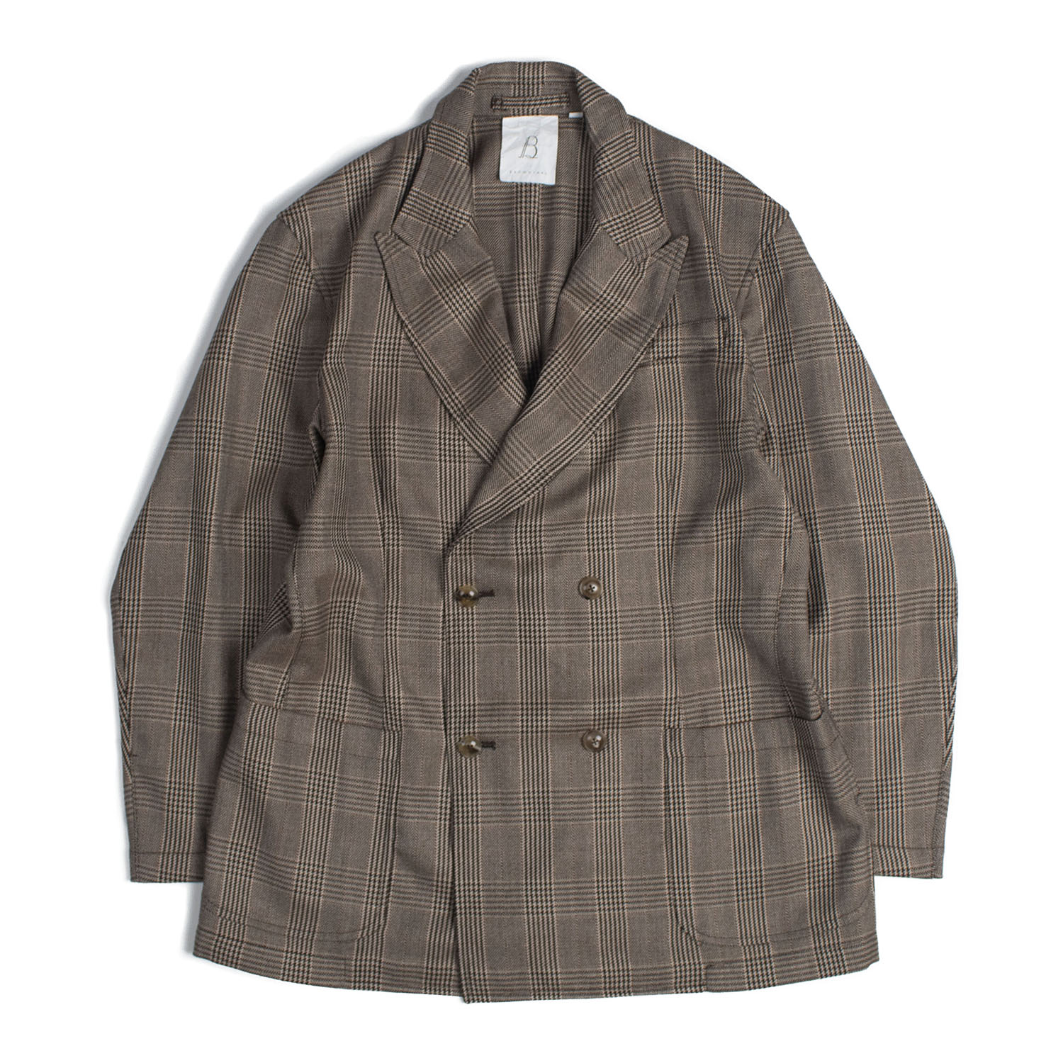 Brownyard Double Breasted Jacket (Brown Check)