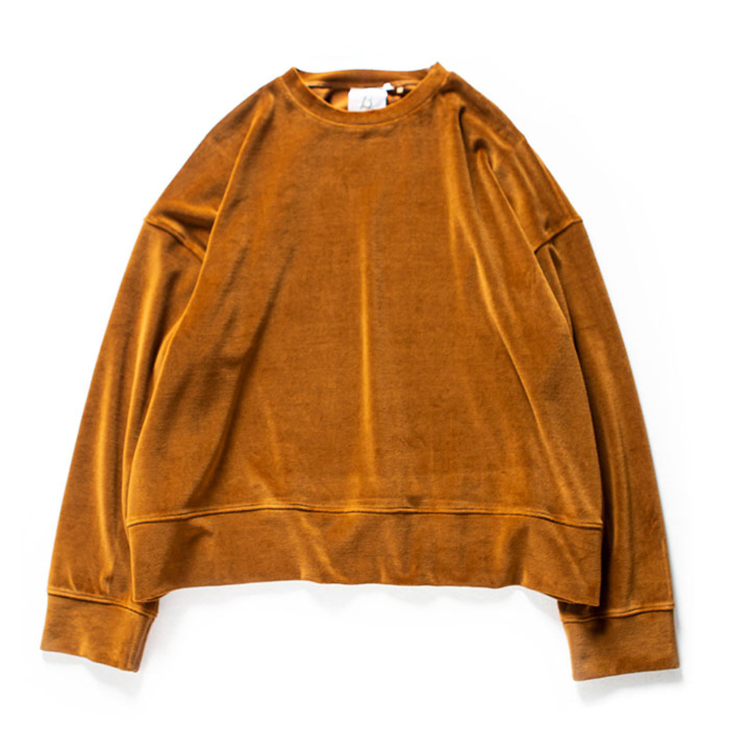 Wide Velour Pullover (Brown)