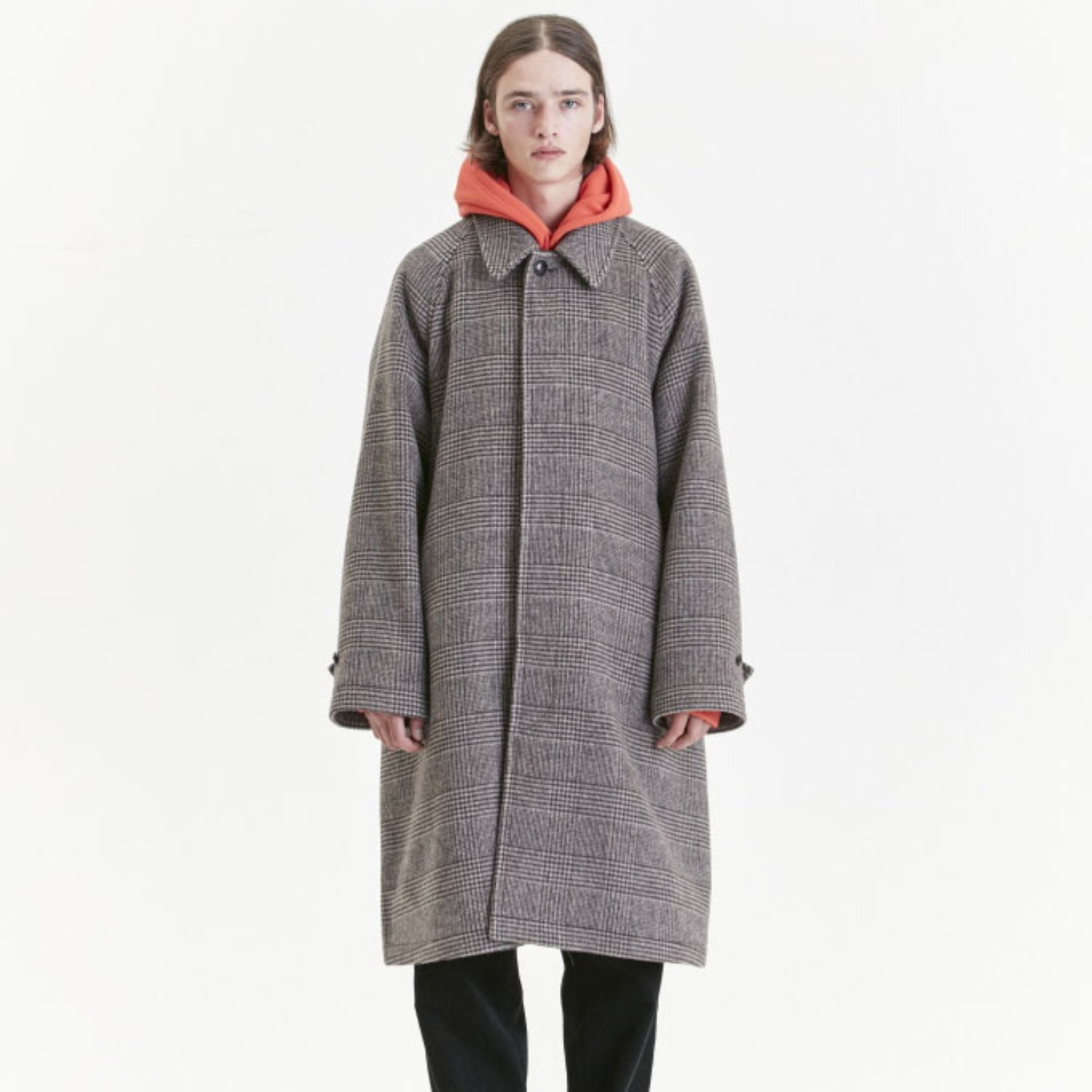 Balmacaan Coat (Brown Check)