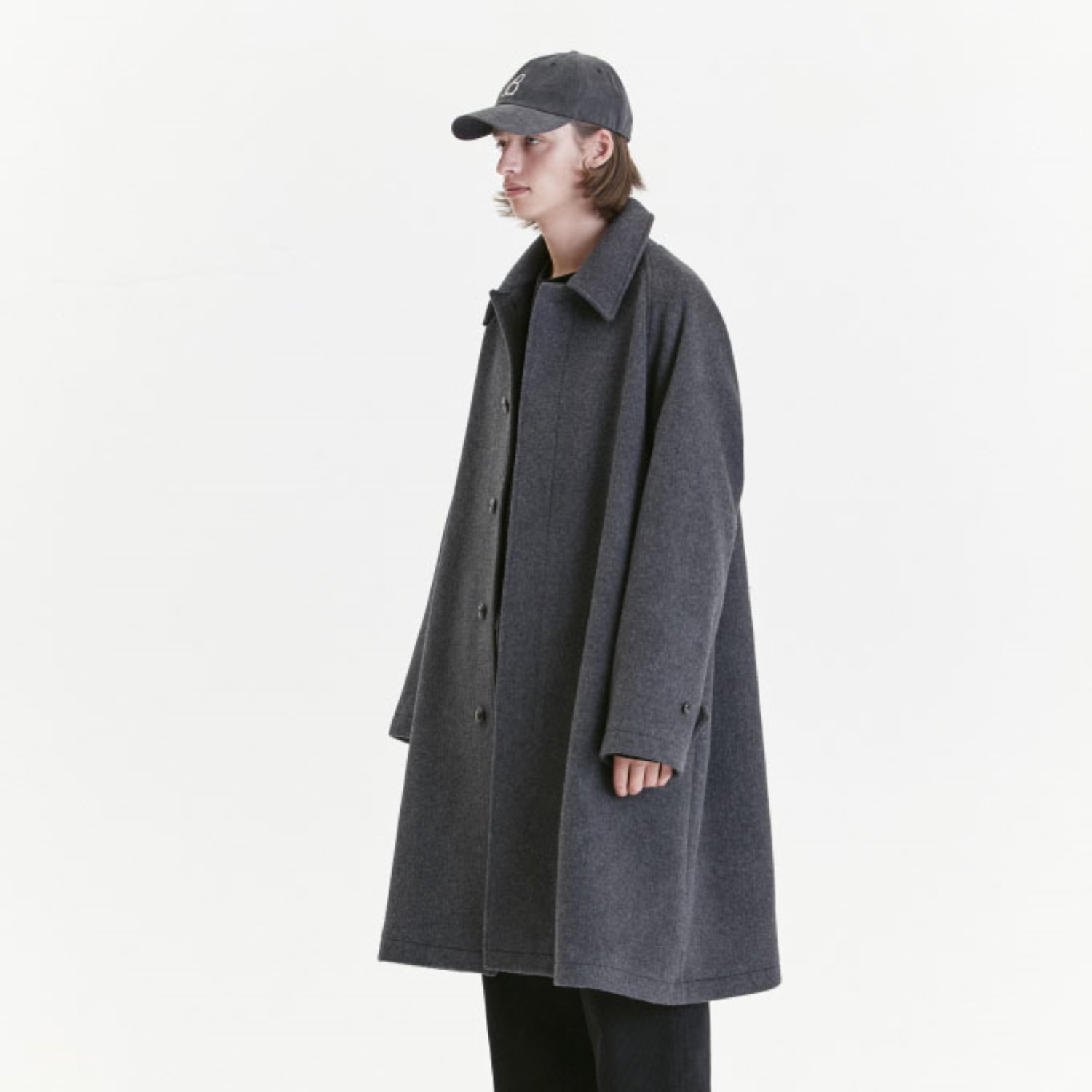 Balmacaan Coat (Gray)