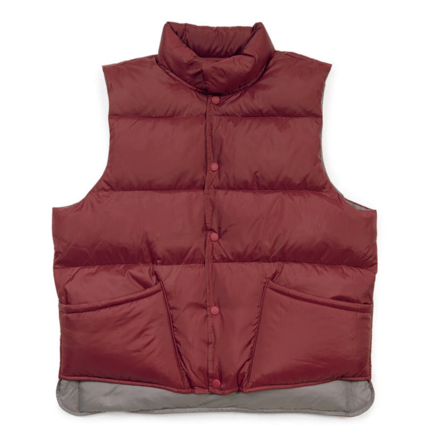 Two Way Reversible Down Vest (Burgundy)