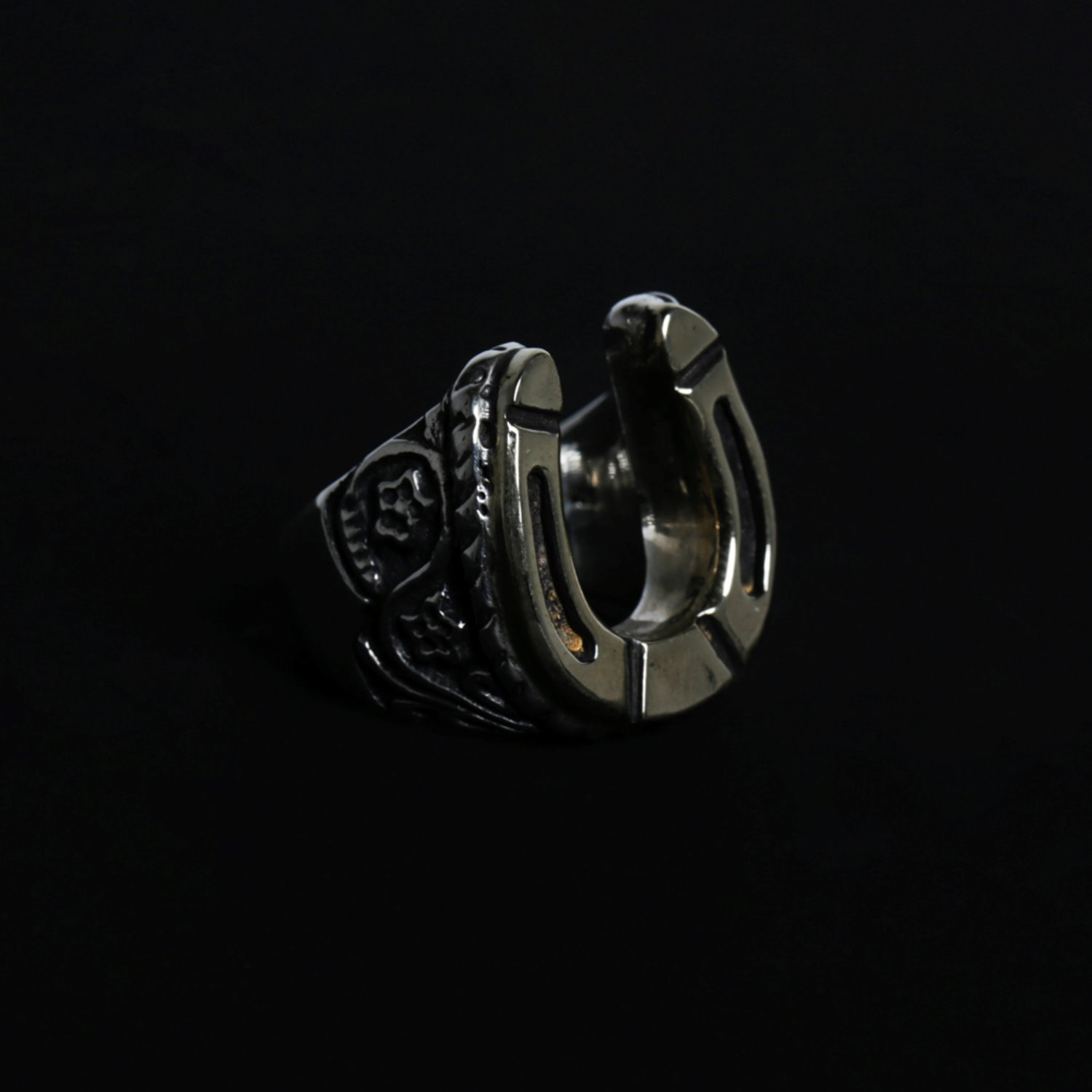 Brass Horseshoe Ring