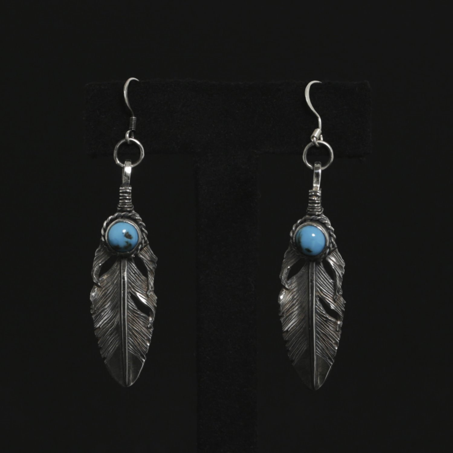 Feather with Turquise Earing