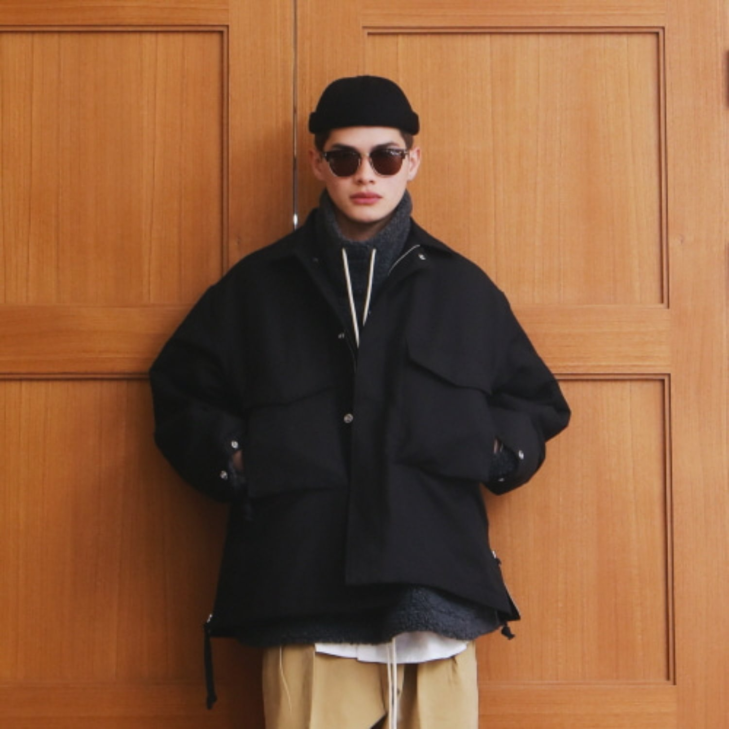 """Hotel Security M-65 Oversized Jacket -3M Thinsulate (Black)"