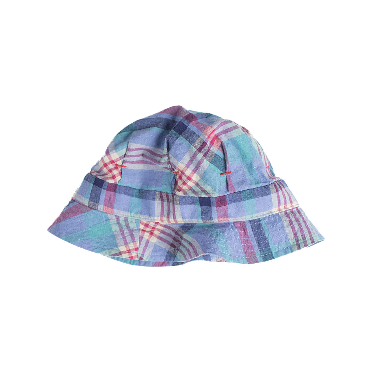 C-388 Check De Gaulle Hat (Blue)