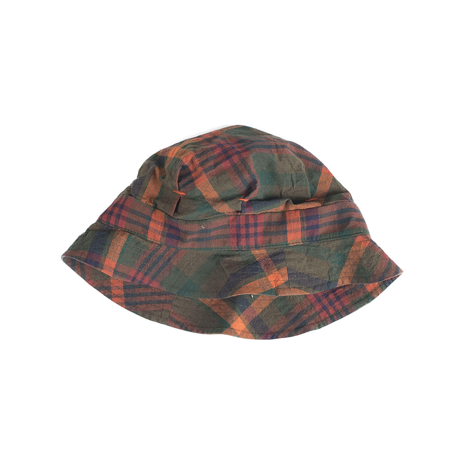 C-388 Check De Gaulle Hat (Brown)