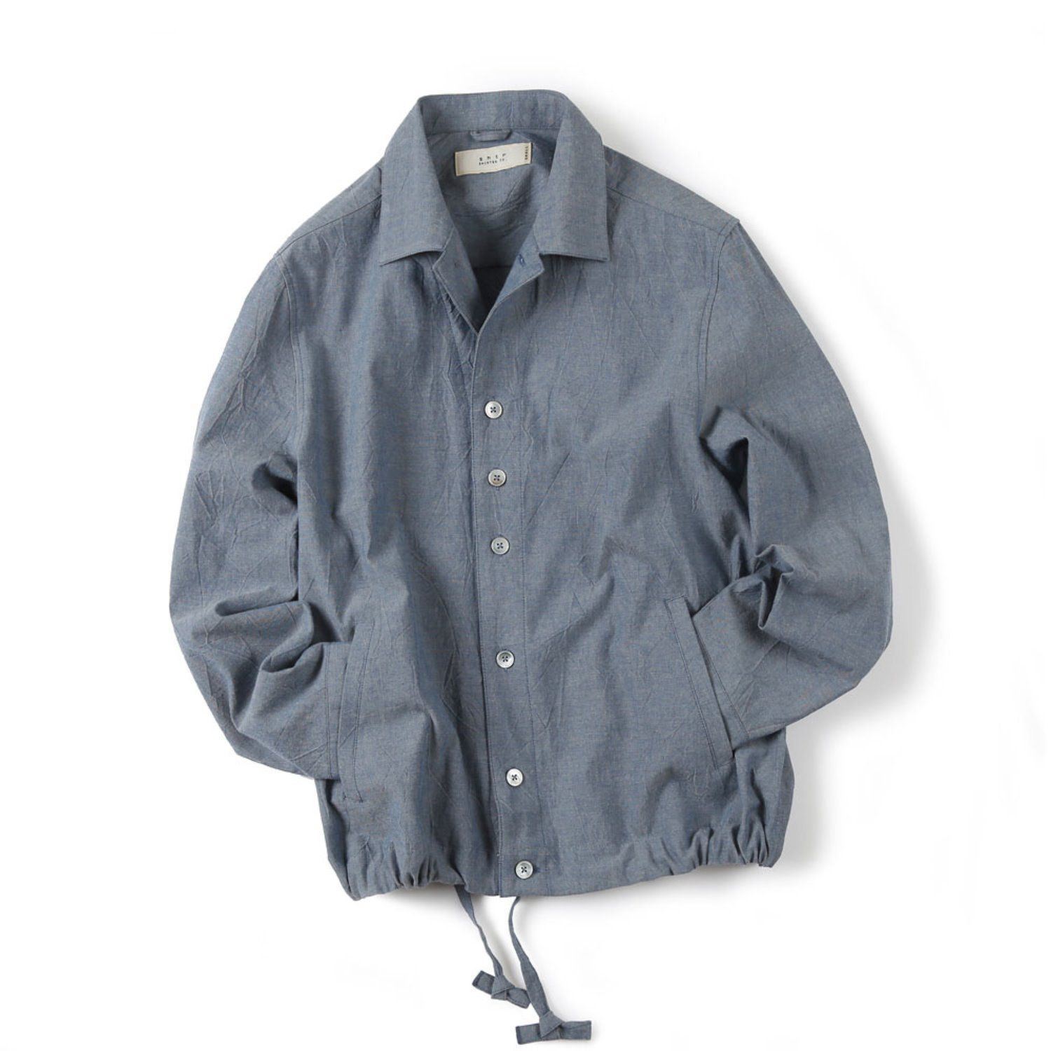 Shirter Drawsting Chambray Jacket (Blue)