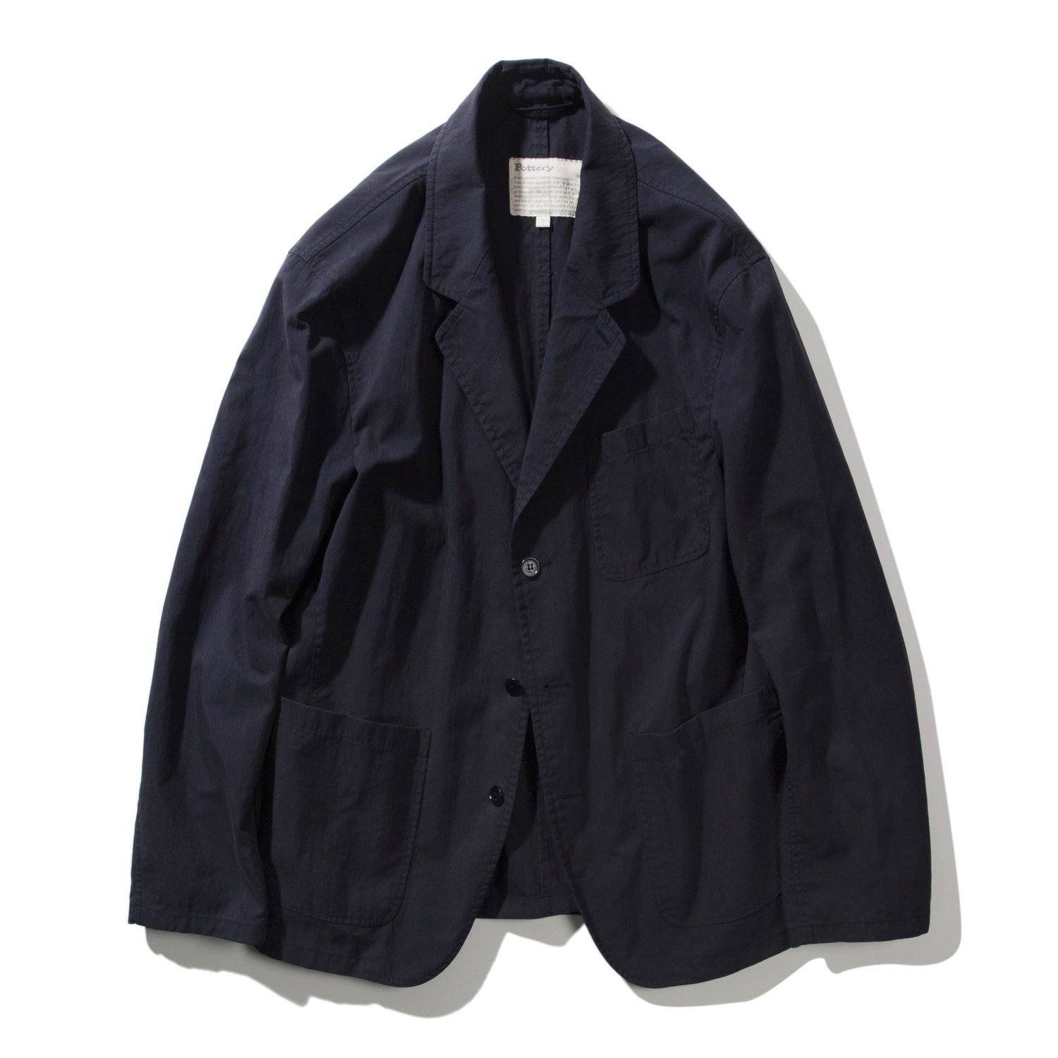 Pottery Washed Sports Jacket (Navy)