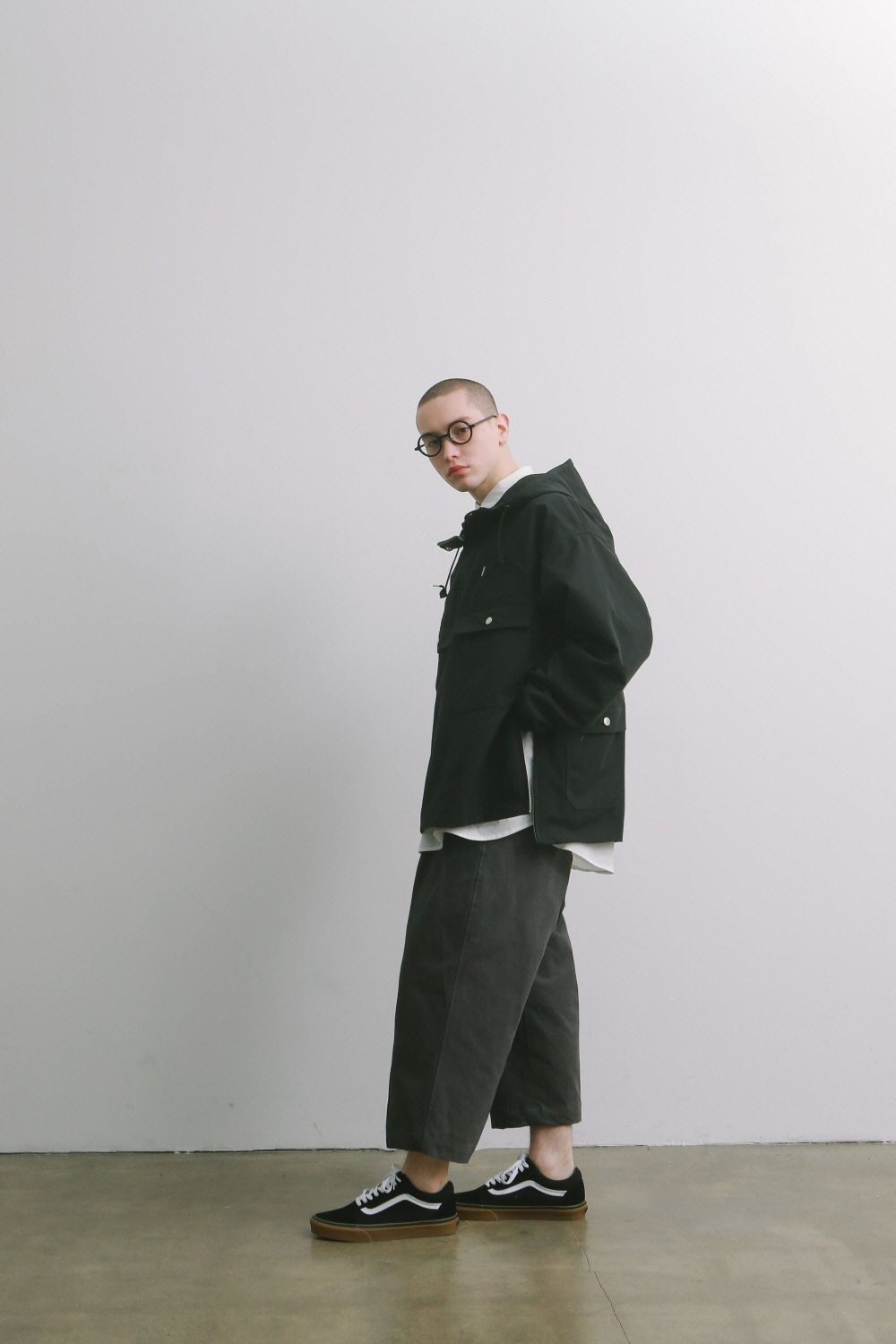 Hotel Security Oversized Anorak Jacket (Black)