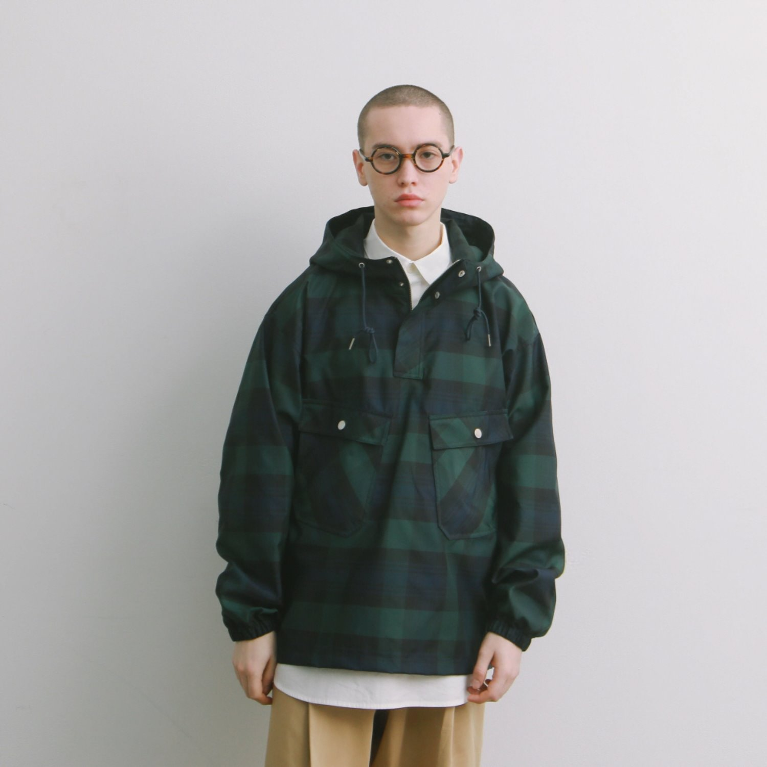 Hotel Security Oversized Anorak Jacket (B.Watch Check)
