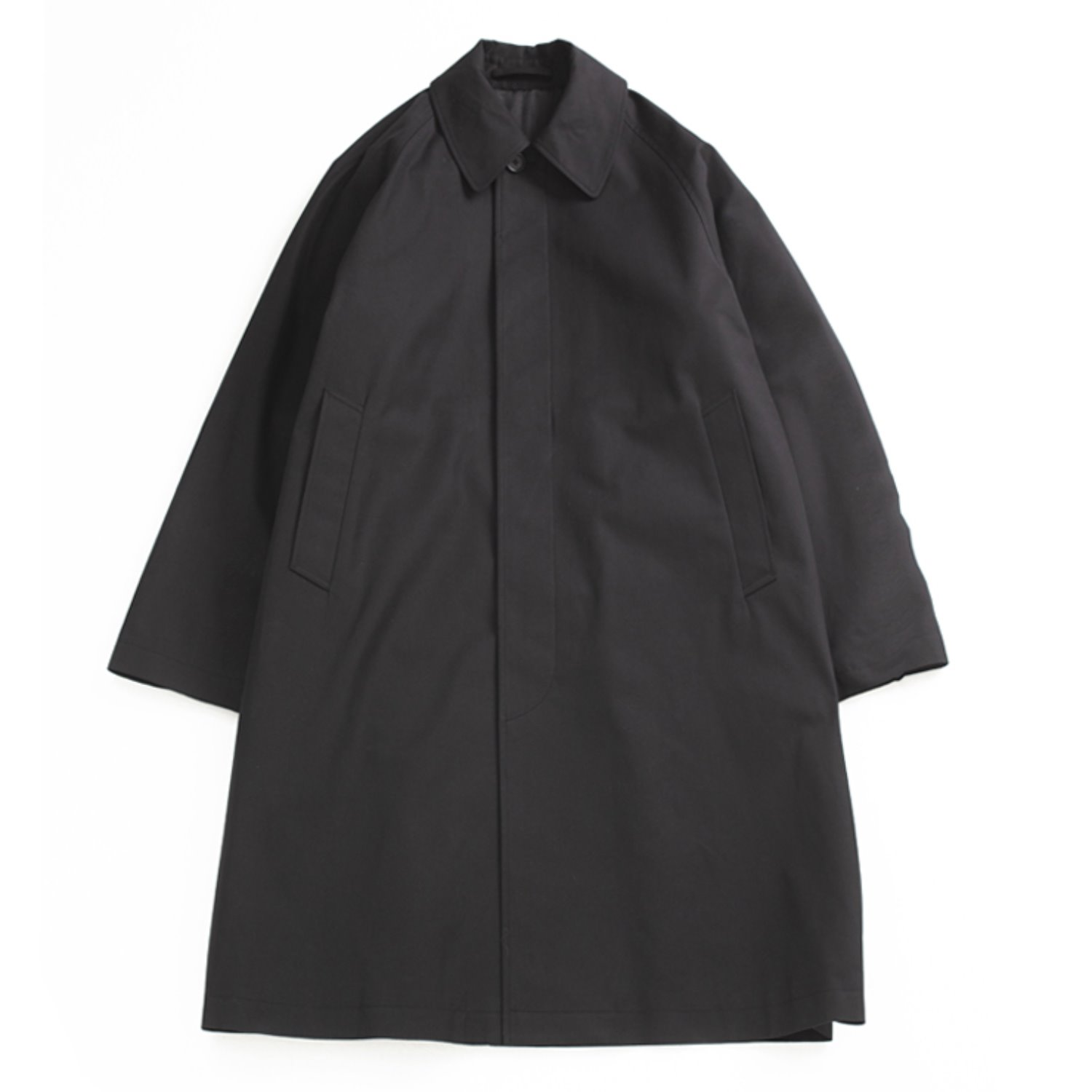 Brownyard Balmacaan Coat (Black)