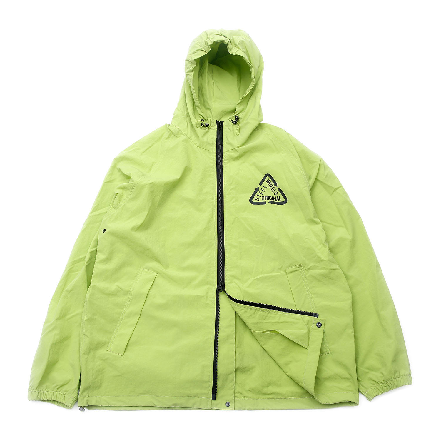 Steelwheels Reflective Nylon JKT (Lime)