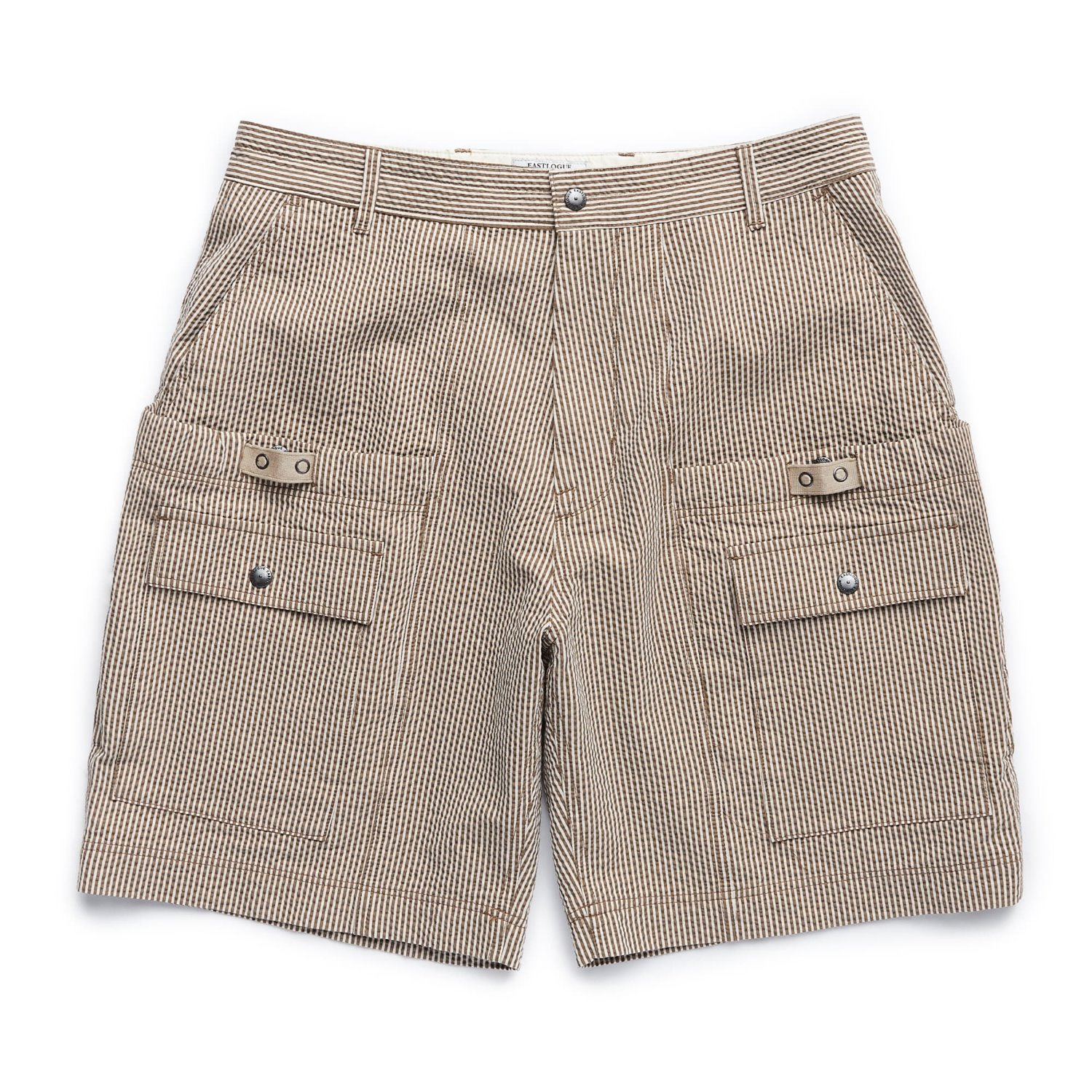 EASTLOGUE Wagon Shorts (Beige Seersucker)